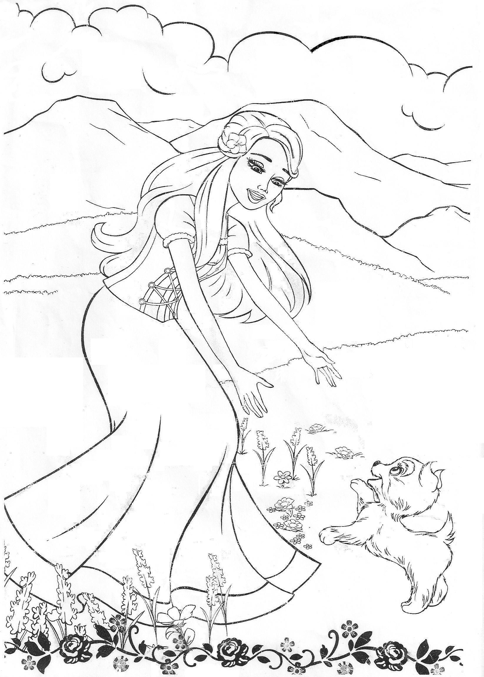 Barbie coloring printouts free - Barbie Coloring Pages Barbie Movies Photo 19453603 Fanpop