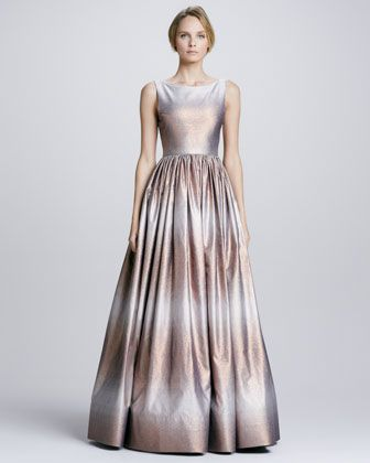 Caddie Metallic Ombre Gown By Alice Olivia At Neiman Marcus The