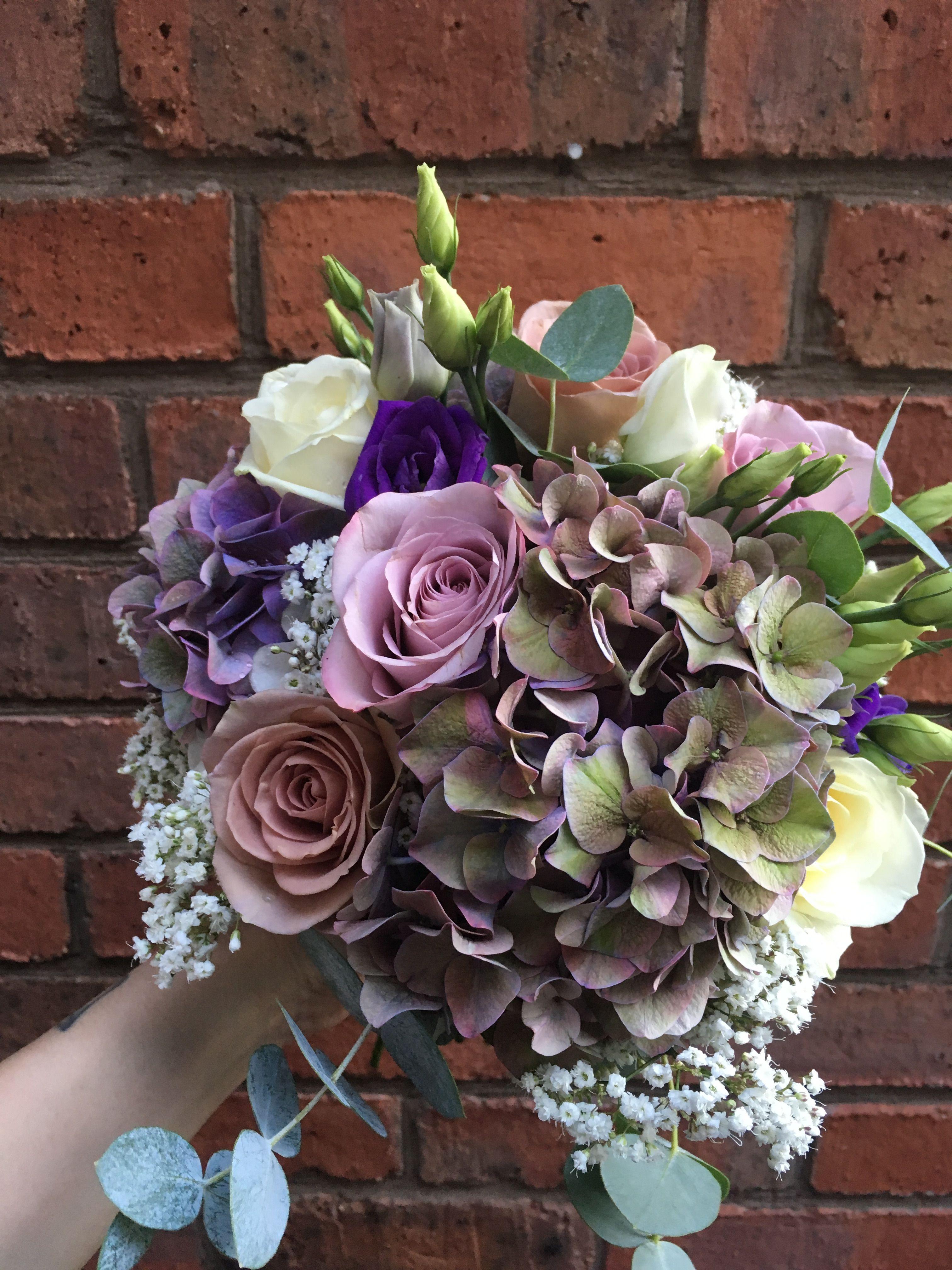 Bridal bouquet bridal flowers wedding flowers ivory and muted bridal bouquet bridal flowers wedding flowers ivory and muted lilac flowers purple izmirmasajfo