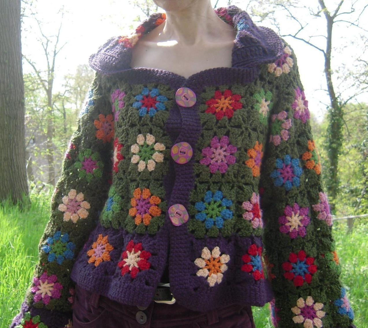 Jacket granny...  Chaqueta con bloques de la abuela...