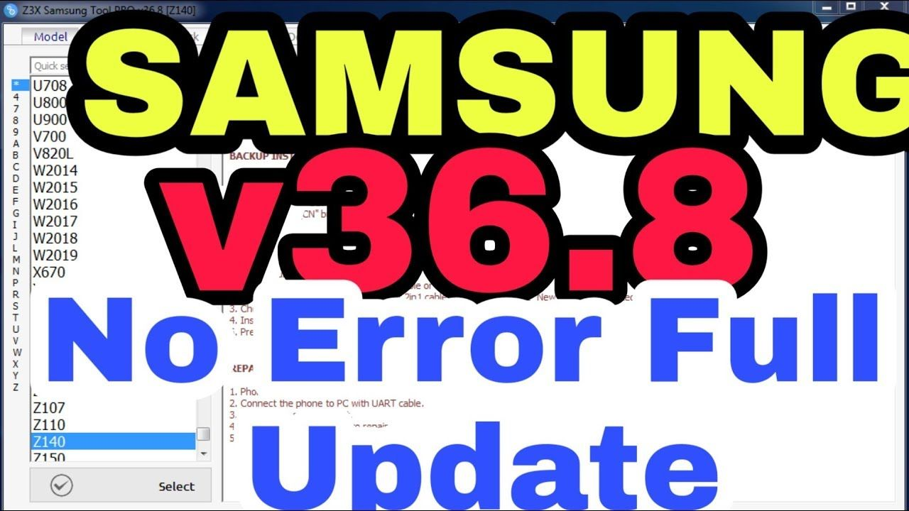 Samsung Tool Pro Z3x Box Latest Setup V36 8 No Error Rj