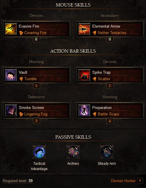 Diablo  Demon Hunter Passive Skill Build