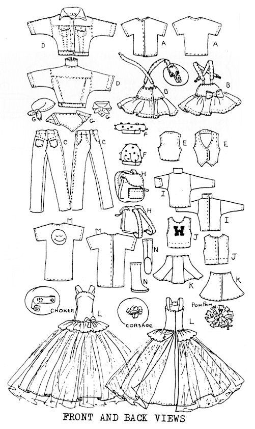 Items similar to Skipper doll Sewing Pattern: Teen Scene. Fits Blythe. on Etsy