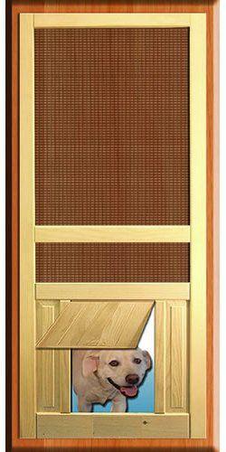 Screen Doors Pet Passages Diy Screen Door Wood