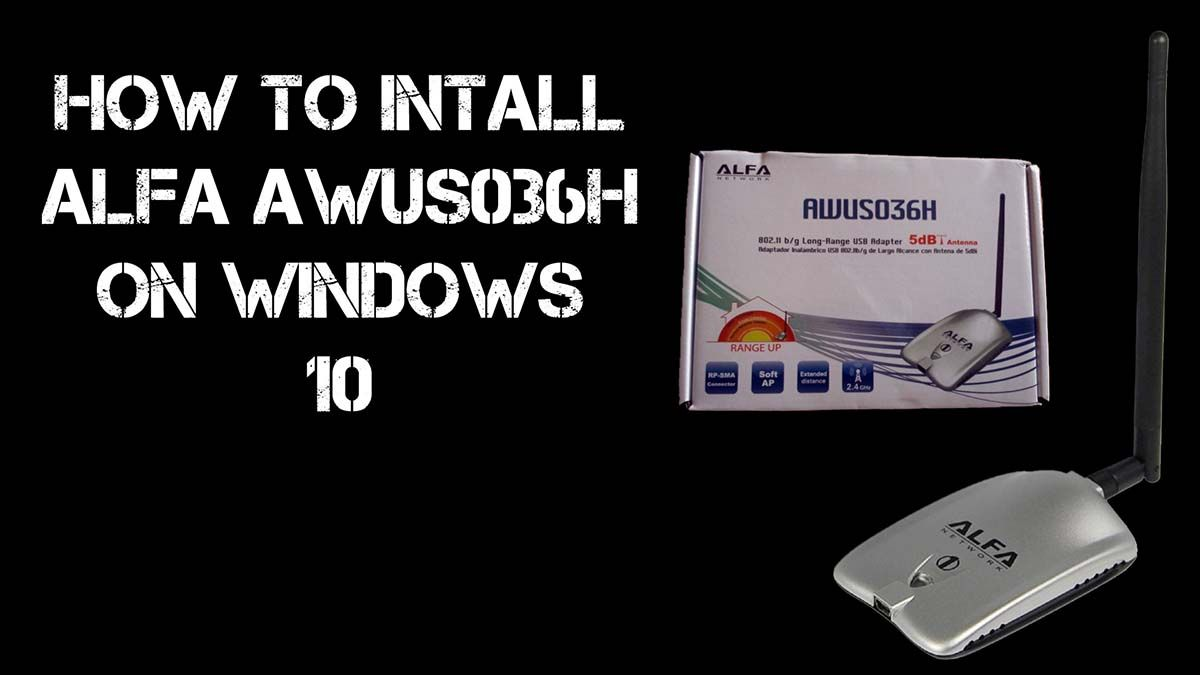Learn how to Install ALFA AWUS036H on Windows 10, Windows 8, or Windows 8.1. The installation disk for the ALFA doesn't support newer operating systems.