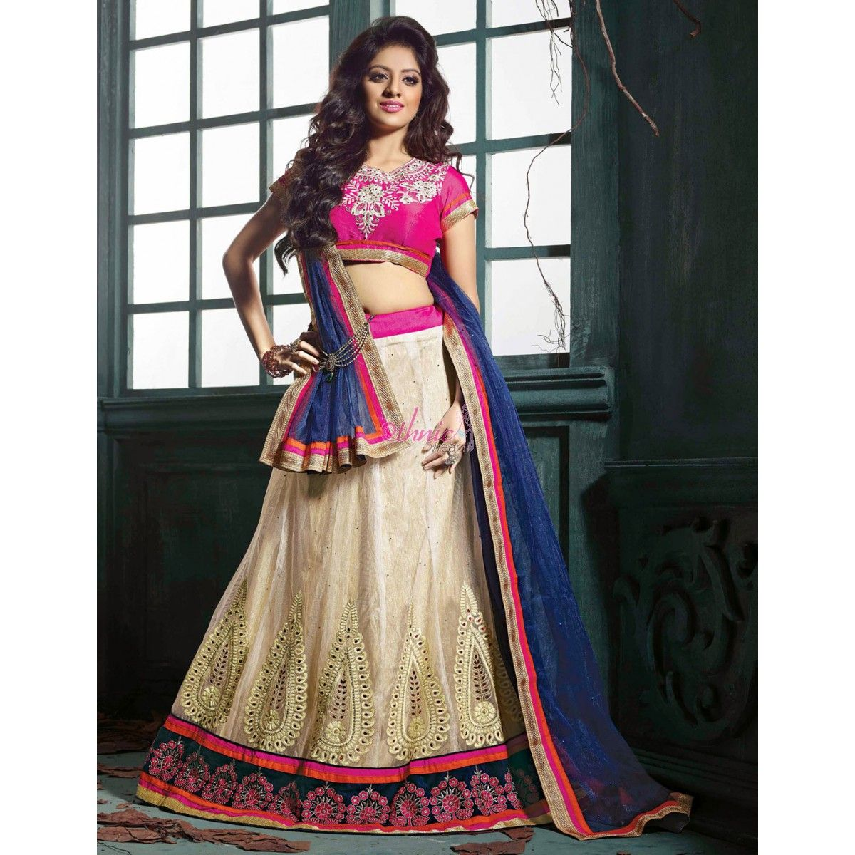 Seema Mantri Pink Net #Lehenga #Choli #Clothing #Fashion #Clothing #LehengaCholi