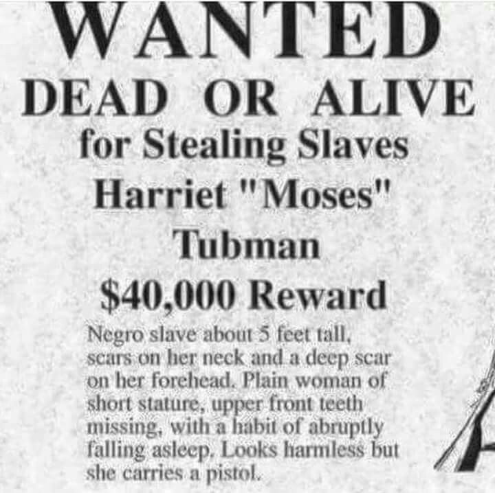 wanted dead or alive  harriet  u0026quot moses u0026quot  tubman