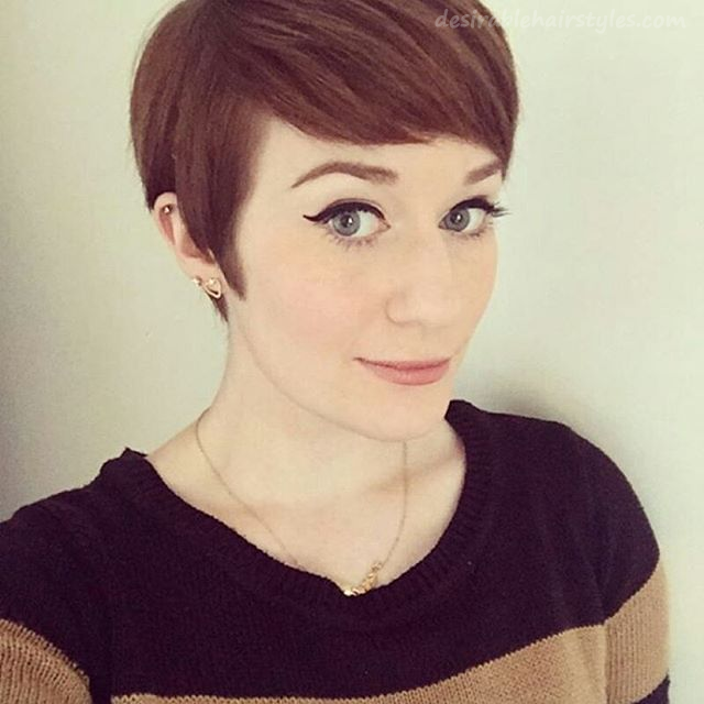 21 Gorgeous Short Pixie Cuts with Bangs - 14 #ShortHairstyles