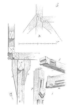 Assemblage tenons et mortaises pans de bois charpente for Dictionnaire architecture et construction