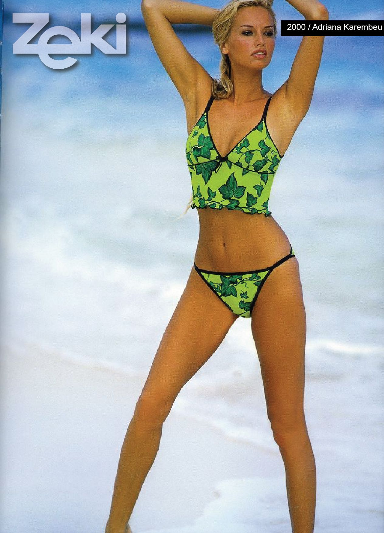 Adriana Karembeu was the model of Zeki Triko in 2000. zeki triko