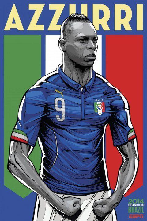 Italia  La fortaleza de Mario Balotelli es la imagen más candente en un  seleccionado que irá por su quinta conquista. 78e3b3addaa3d