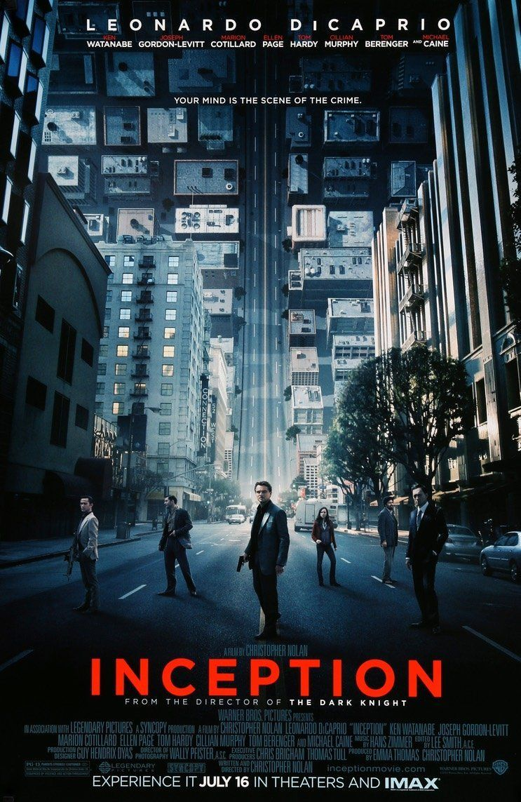 Inception 2010 Inception Movie Inception Movie Poster Great Movies