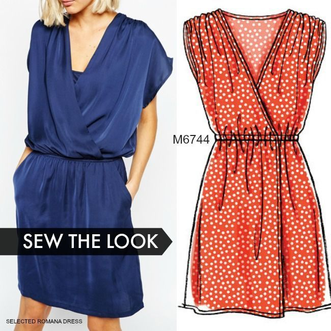 For the most beginner friendly and cutest wrap dress sewing pattern ...