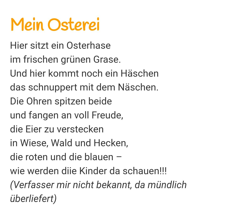 Gedicht Frühling Spring Ostern Osterei Osterhase