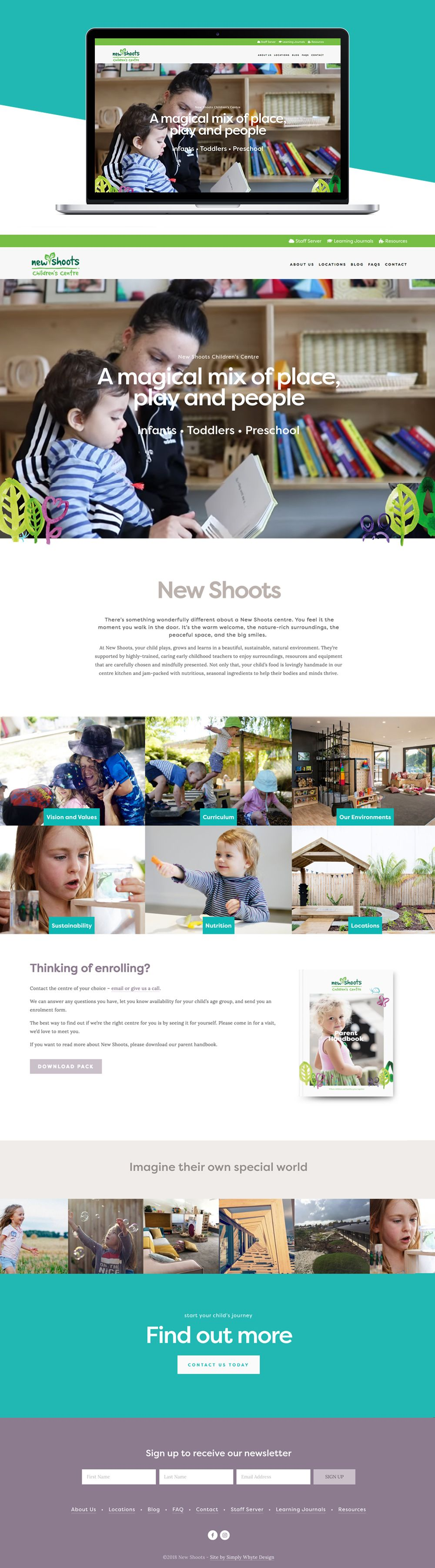 Newshoots Squarespace Website by Simply Whyte Design