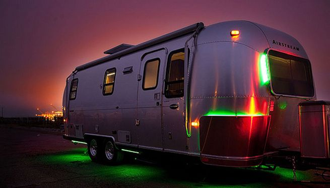 Place LED Strip Light Color Changing Underneath The Camper To Lighten Up Night