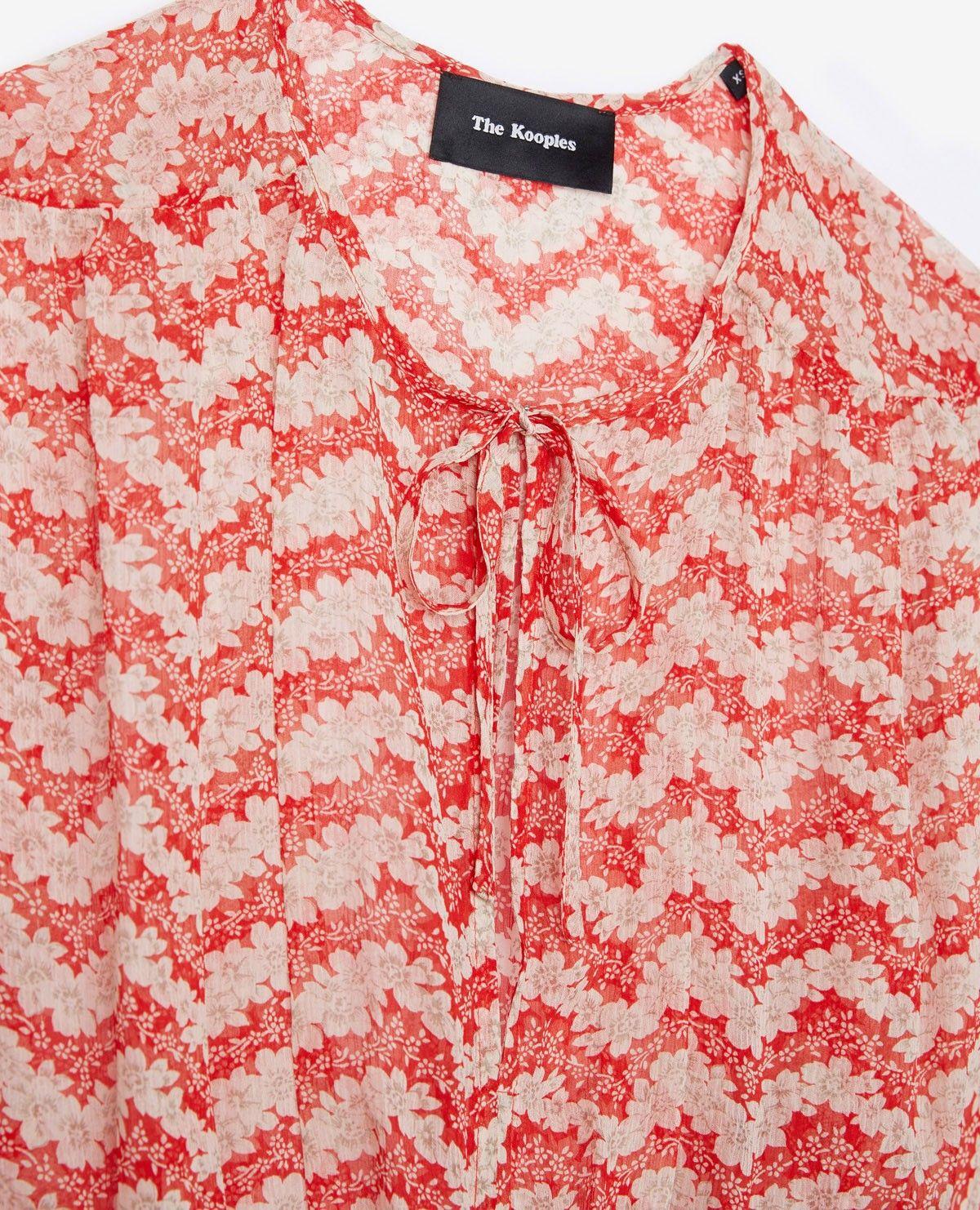 da224858fa5 THE KOOPLES - Long Red Jasmine print silk dress | I'm a fan of ...