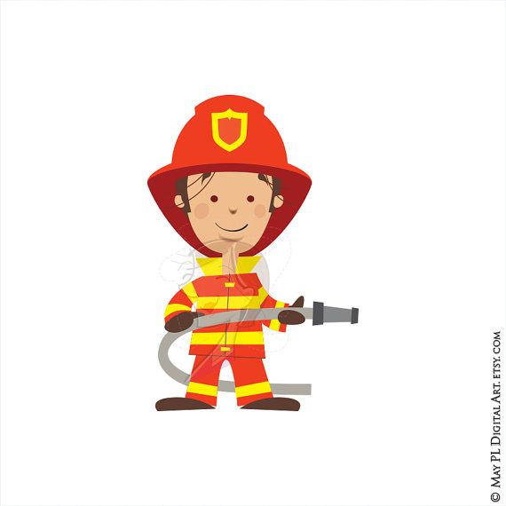 Firefighter Fireman Clipart Fire Truck Engine Rescue Clip Art Hydrant Axe Commercial Use Vector Fire Man Birthday Party Fireman Birthday Birthday Party Clipart