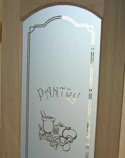 Pantry Door Glass Etched Amp Carved By Sans Soucie