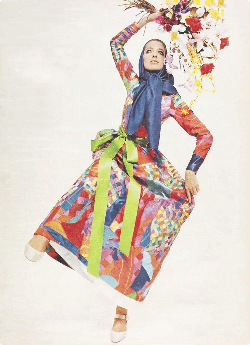 1960s St. Laurent patchwork dress