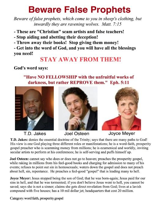 Td jakes false teaching