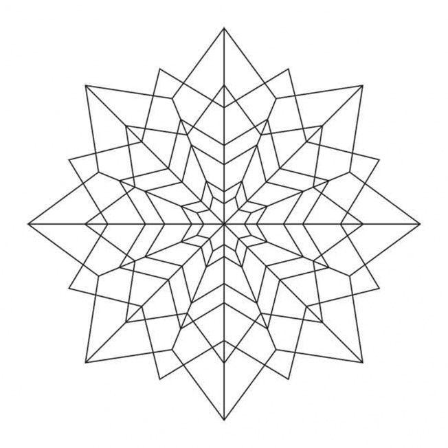 Sterne Mandala 3   Art: Zentangle Coloring   Pinterest   Mandalas ...