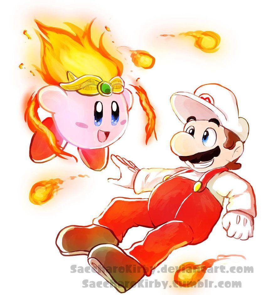 Fire Mario & Fire Kirby  | kirby | Super smash bros, Kirby