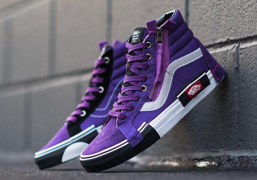 Vans Sk8 Hi Reissue Cap Violet Indigo Release Date Sbd Vans Shoes Fashion Mens Vans Shoes Hype Shoes