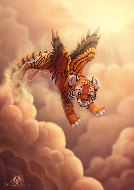 a8106d3de2c2 cute flying tiger Fantasy Creatures, Mythical Creatures, Mythological  Creatures, Furry Art, Big