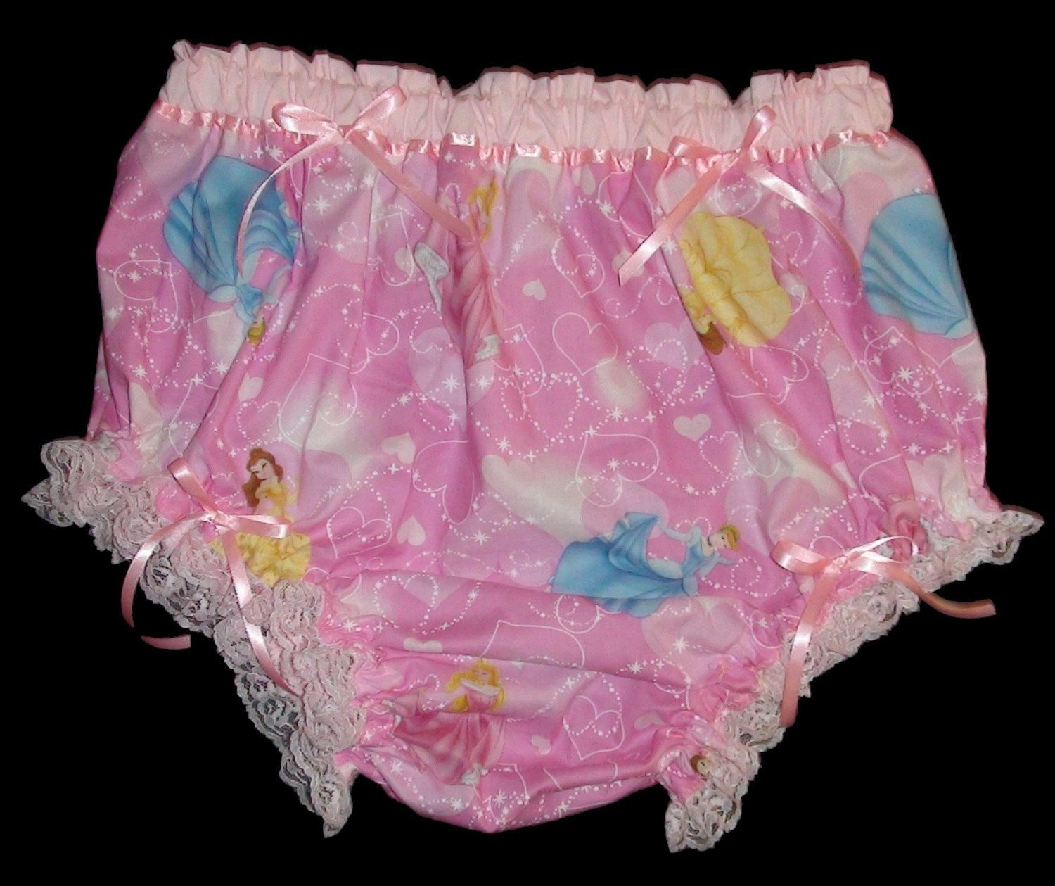 Adult bABy Sissy Diaper cover Pink Princess Men by