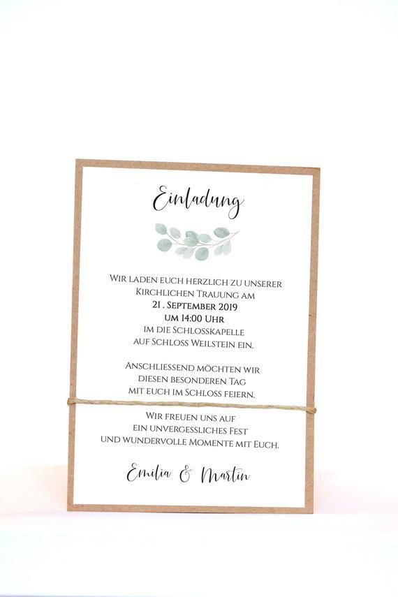 Hochzeitseinladungen, Einladungen zur Hochzeit, Hochzeitskarten, Hochzeitspapeterie, Kraftpapier – Hochzeit