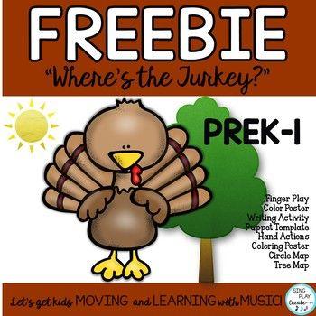FREEBIE: Thanksgiving Turkey Poem, Song, Fingerplay