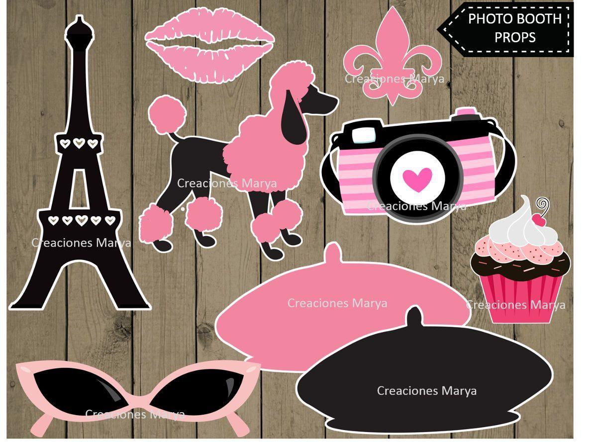 Kit Imprimible Photo Booth Props Paris 6900 En Mercadolibre