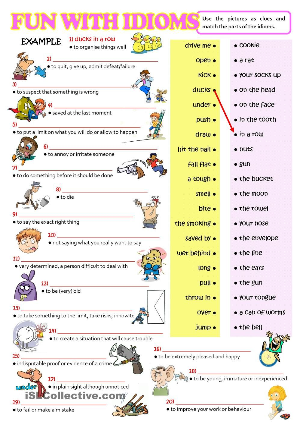 hight resolution of FUN WITH IDIOMS   Idioms