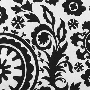 Suzani Black White Online Discount Drapery Fabrics And Upholstery Fabric Superstore