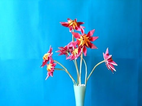 Advanced origami flower fold a beautiful paper sunburst flower advanced origami flower fold a beautiful paper sunburst flower youtube mightylinksfo