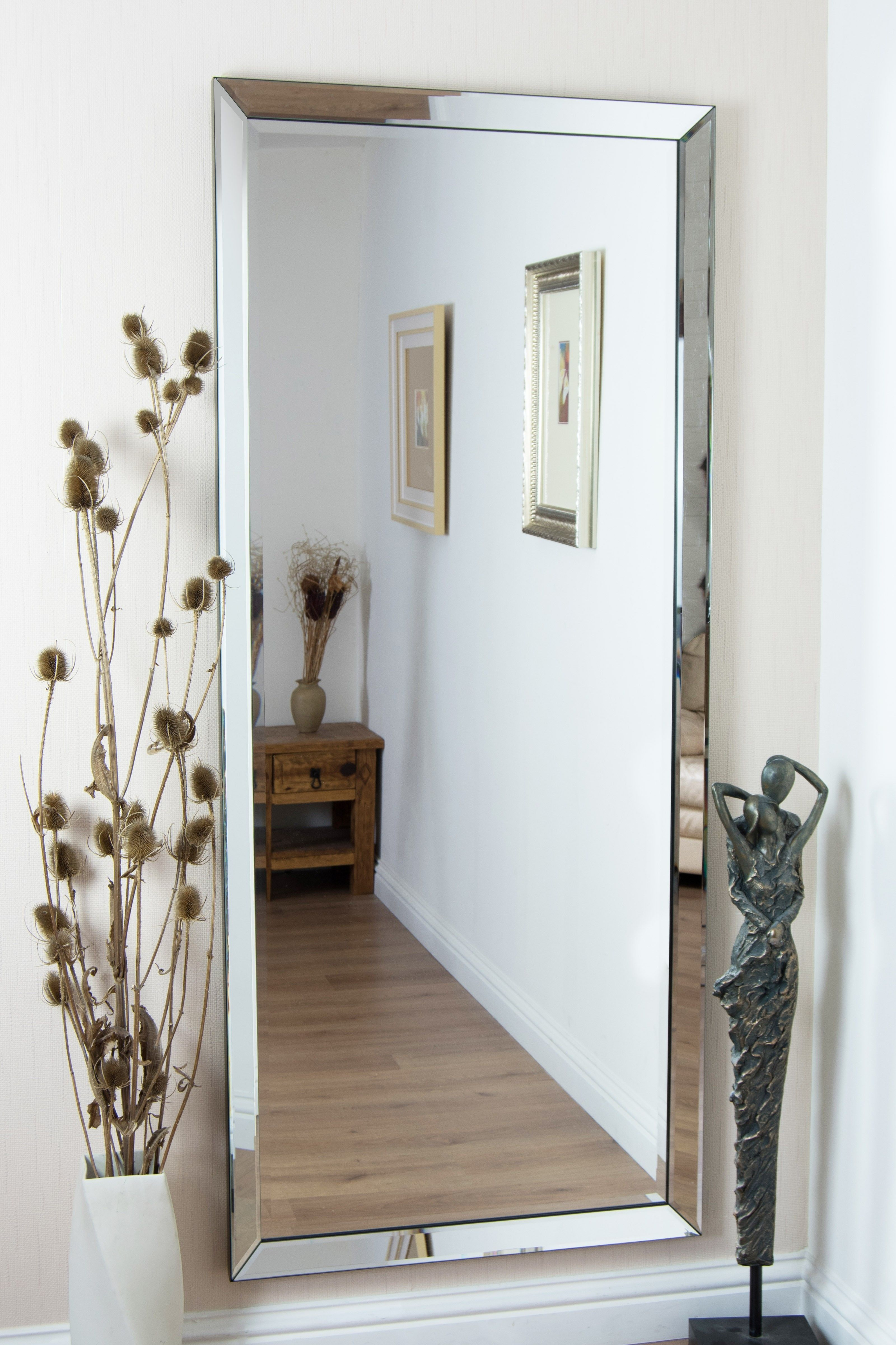 Large Rectangle Bathroom Mirror Hang Mirror On Wall Frameless Mirror Wall Bedroom Modern Mirror Wall Big Wall Mirrors #rectangle #mirrors #for #living #room