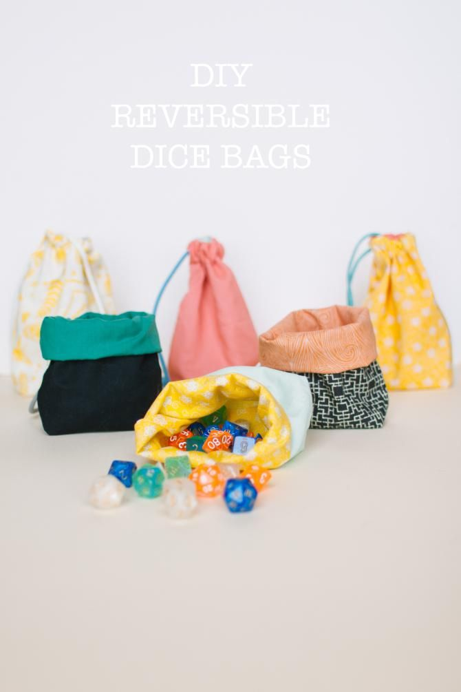 Link to a YouTube video that shows you how to make these dice bags ...