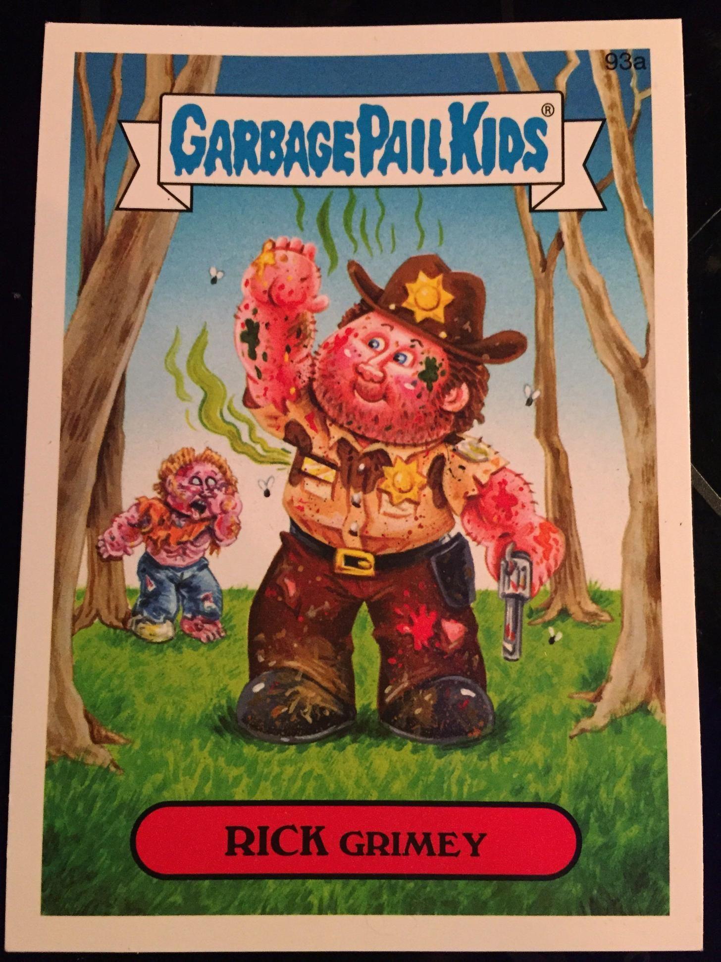Rick Grimey Garbage Pail Kids Cards Garbage Pail Kids Pail