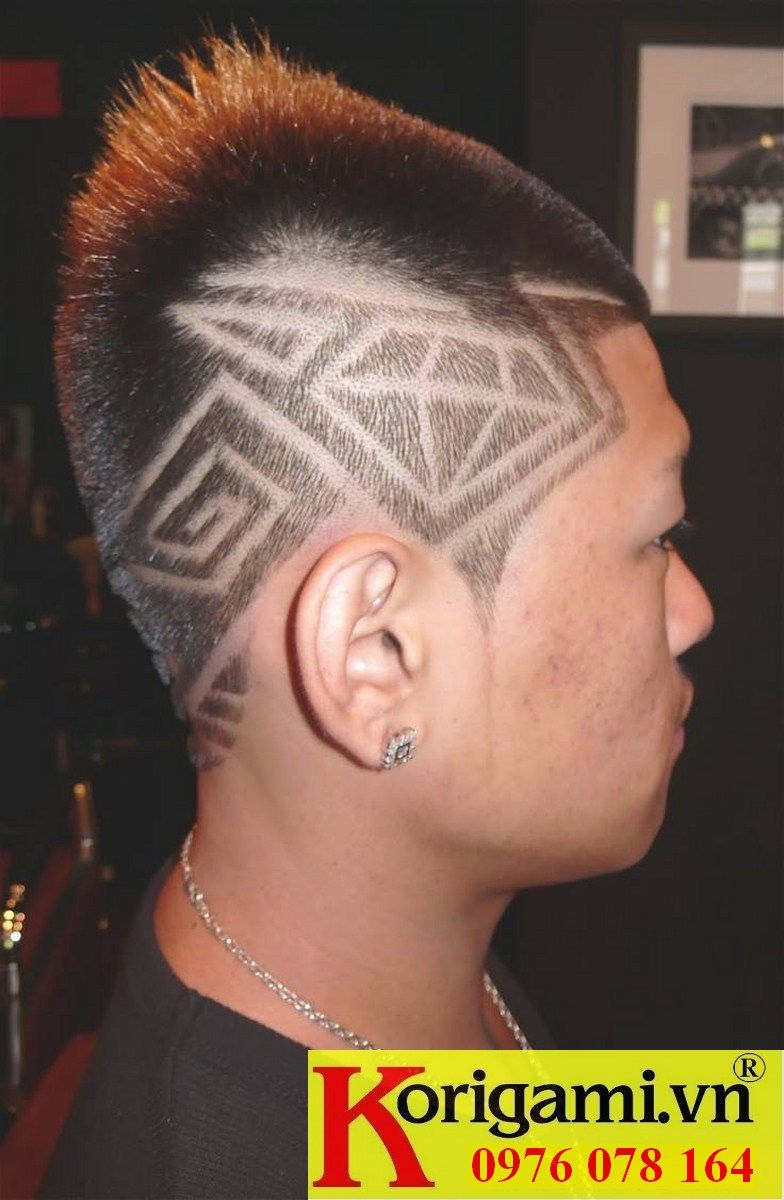 Pin by truong day nghe toc korigami hanoi on haircut with tatoo