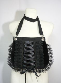 78a3f0b43df Gothic Corset Bag with Lace Ruffle Gothic Lolita by estylissimo.  38.00  USD