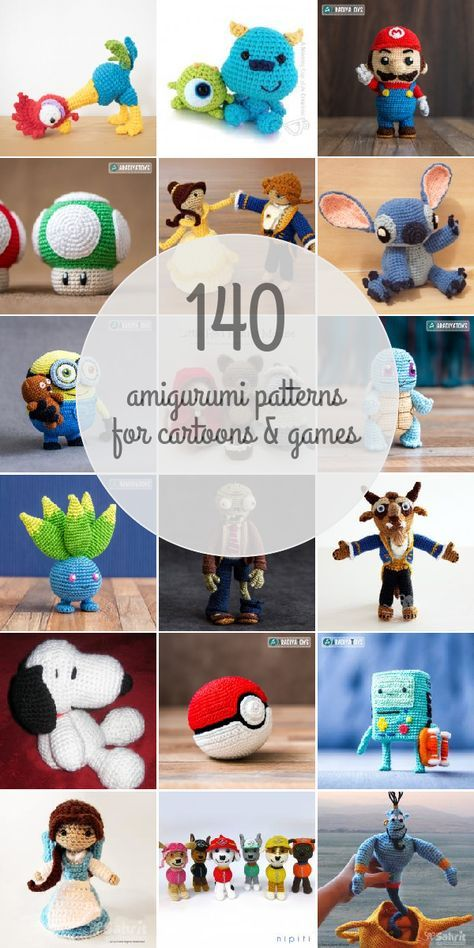 Amigurumi Patterns For Cartoons & Games | háčkovanie | Pinterest ...