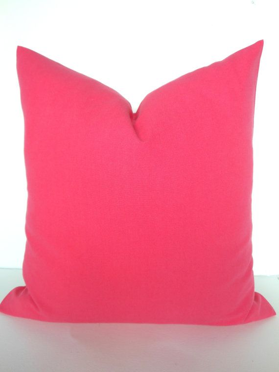 Pink Pillow Cover Decorative Throw Pillows Solid Covers 18x18 Home And Living Say
