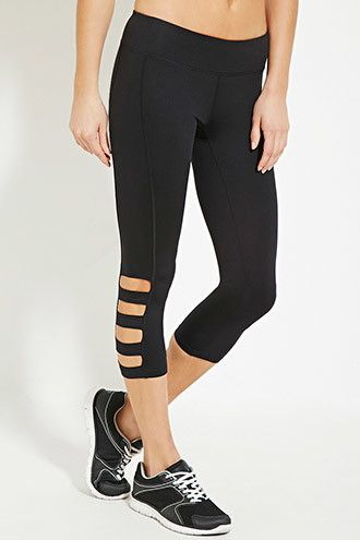 99a883b4fa Active Cutout Capri Leggings | Forever 21 - 2000168483 | Post-baby ...