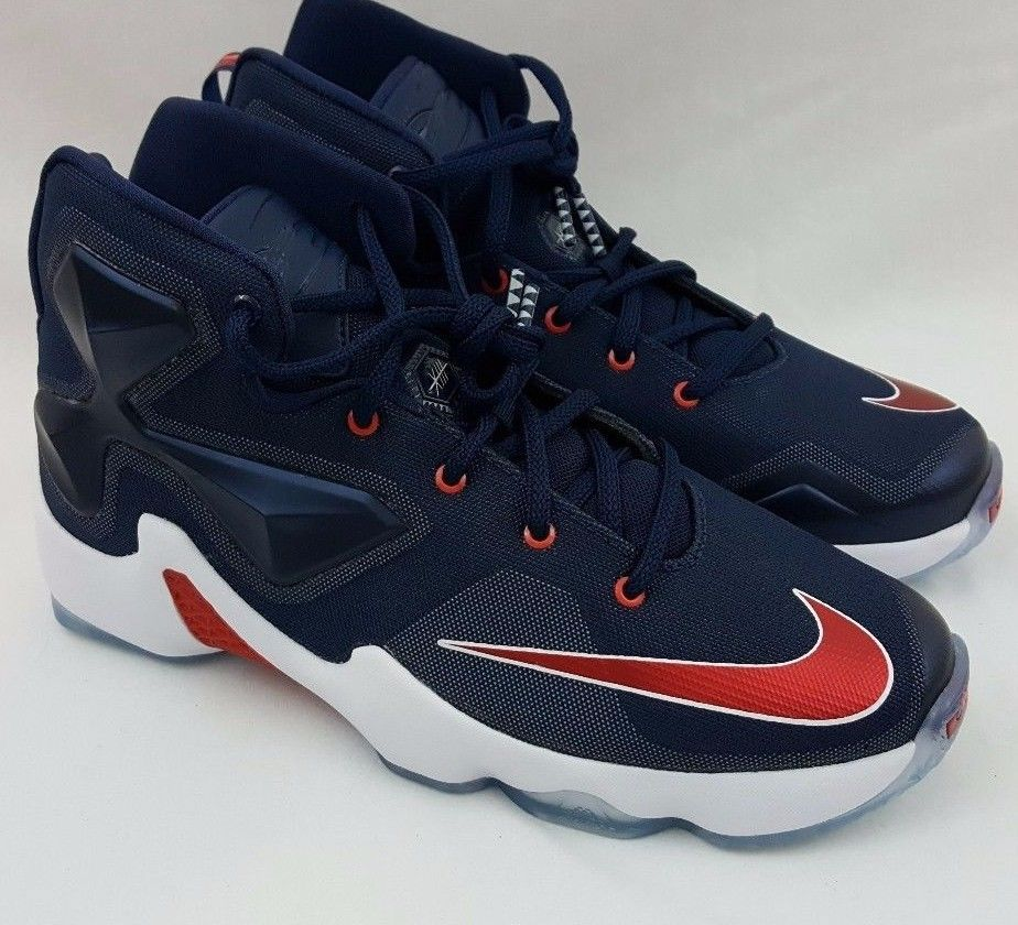 Nike Lebron 13 XIII GS Youth USA Mid Navy University Red White 808709-461 Size  7  Nike  lebron 4b5d9cb384b0