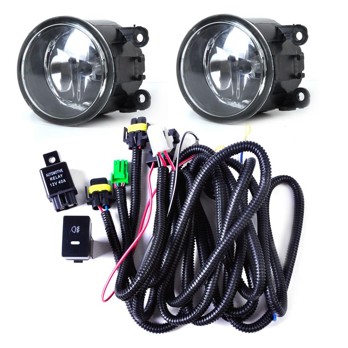 beler Wiring Harness Sockets Switch 2x H11 Fog Lights Lamp 4F9Z-15200-AA Kit