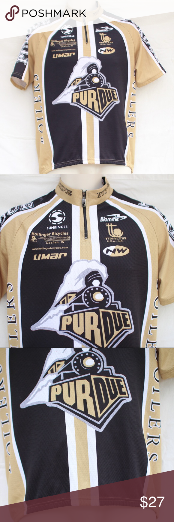 Purdue Boilers Men's Cycling Jersey Size Large Mens