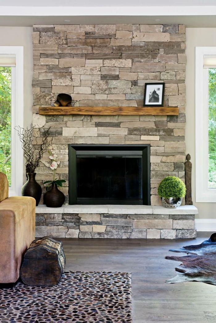 Attraktiv Viele Dekoration An Naturstein Verblender, Kleine Teppiche Und Zwei Fenster  Darum