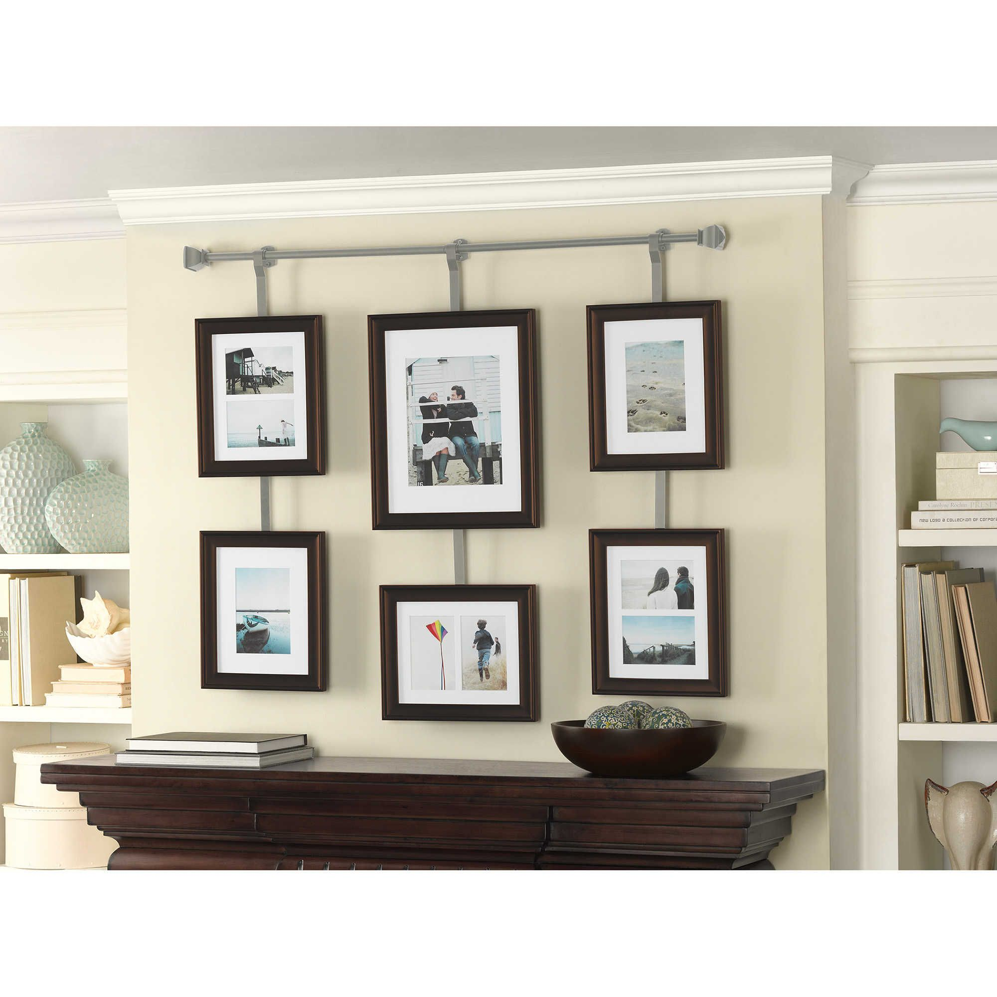 Wall Solutions 10 Piece Rod And Frame Set In Pewter Frames On Wall Home Decor Bed Bath And Beyond