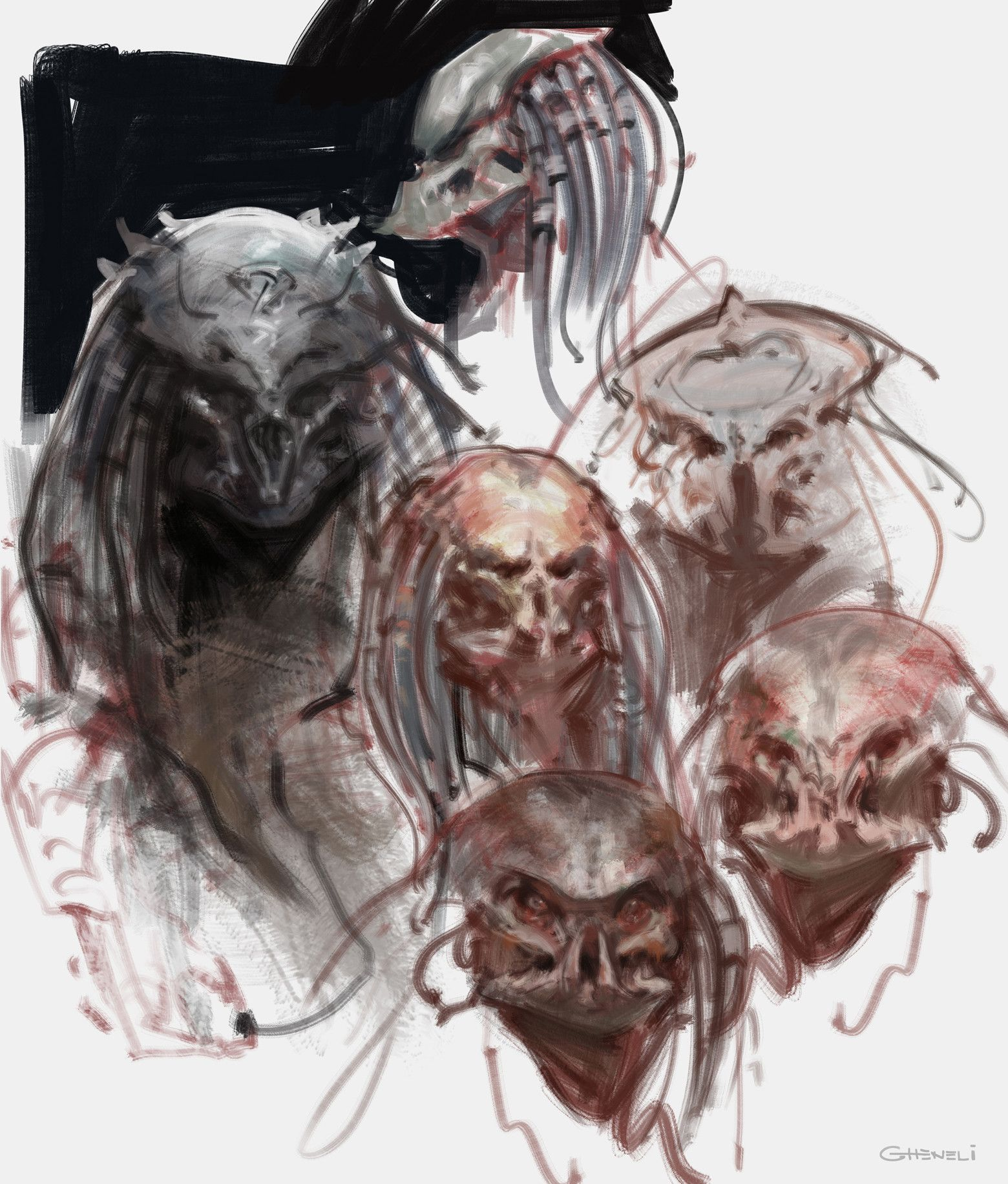 Artstation predator sketches vlad gheneli
